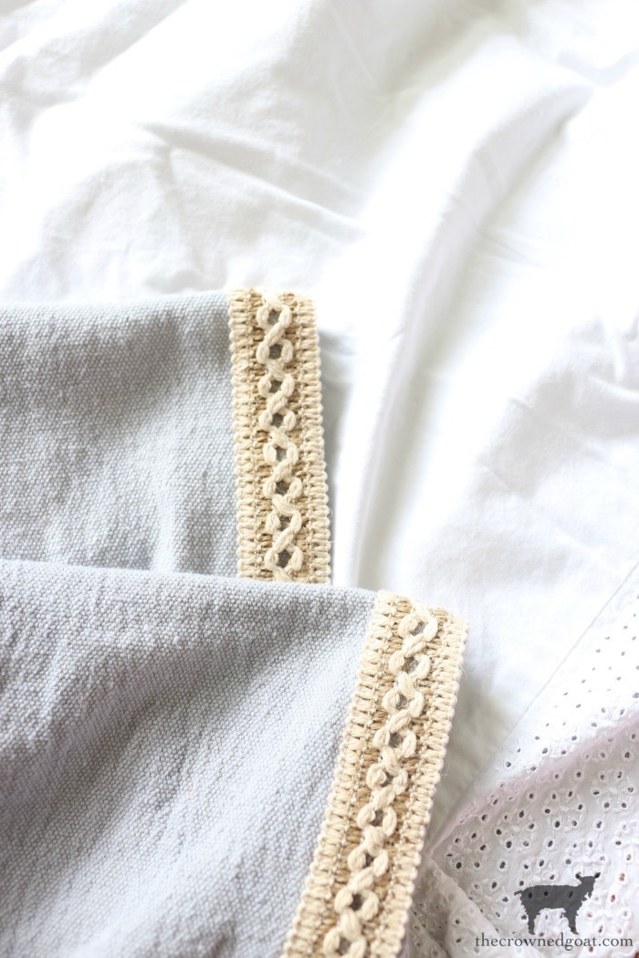 DIY-French-Linen-Bed-Scarf-The-Crowned-Goat-2 French Linen Inspired Bed Scarf Decorating DIY