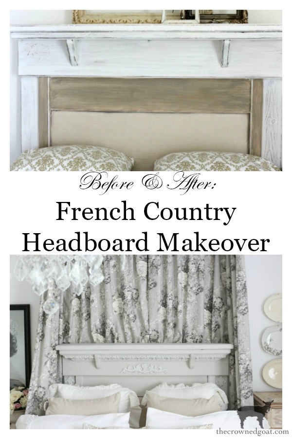 French-Country-Headboard-Makeover-The-Crowned-Goat-13 French Country Headboard Makeover Decorating DIY