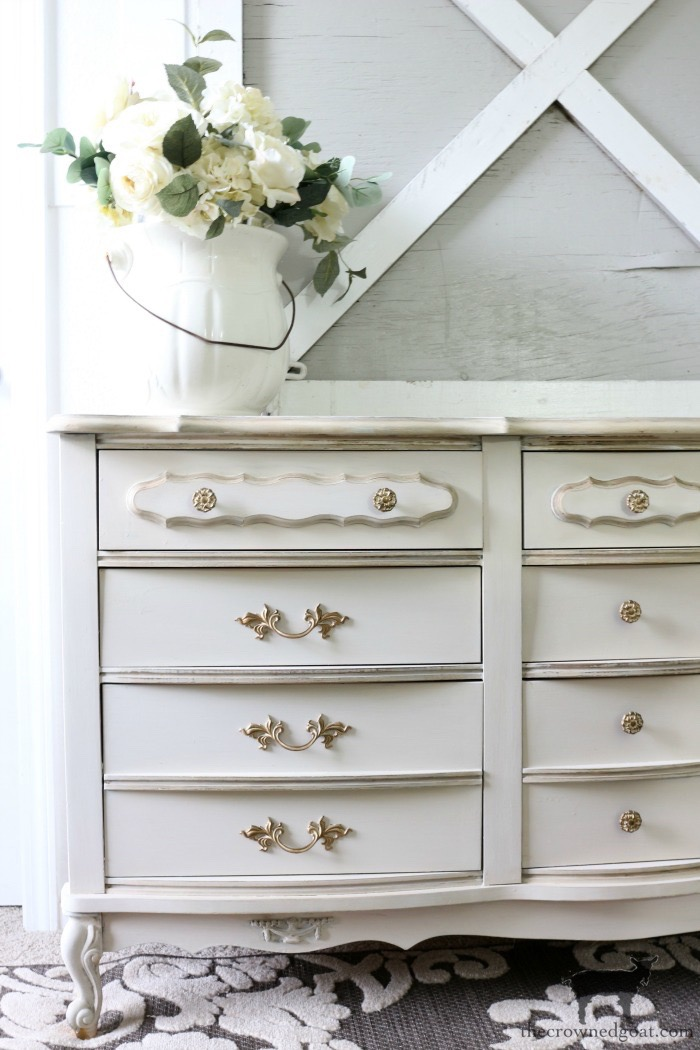 Miss-Mustard-Seed-Milk-Paint-Marzipan-Dresser-Makeover-The-Crowned-Goat-14 Miss Mustard Seed Milk Paint Dresser Makeover in Marzipan Decorating DIY Painted Furniture