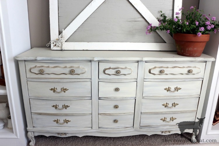 Miss-Mustard-Seed-Milk-Paint-Marzipan-Dresser-Makeover-The-Crowned-Goat-2 Miss Mustard Seed Milk Paint Dresser Makeover in Marzipan Decorating DIY Painted Furniture