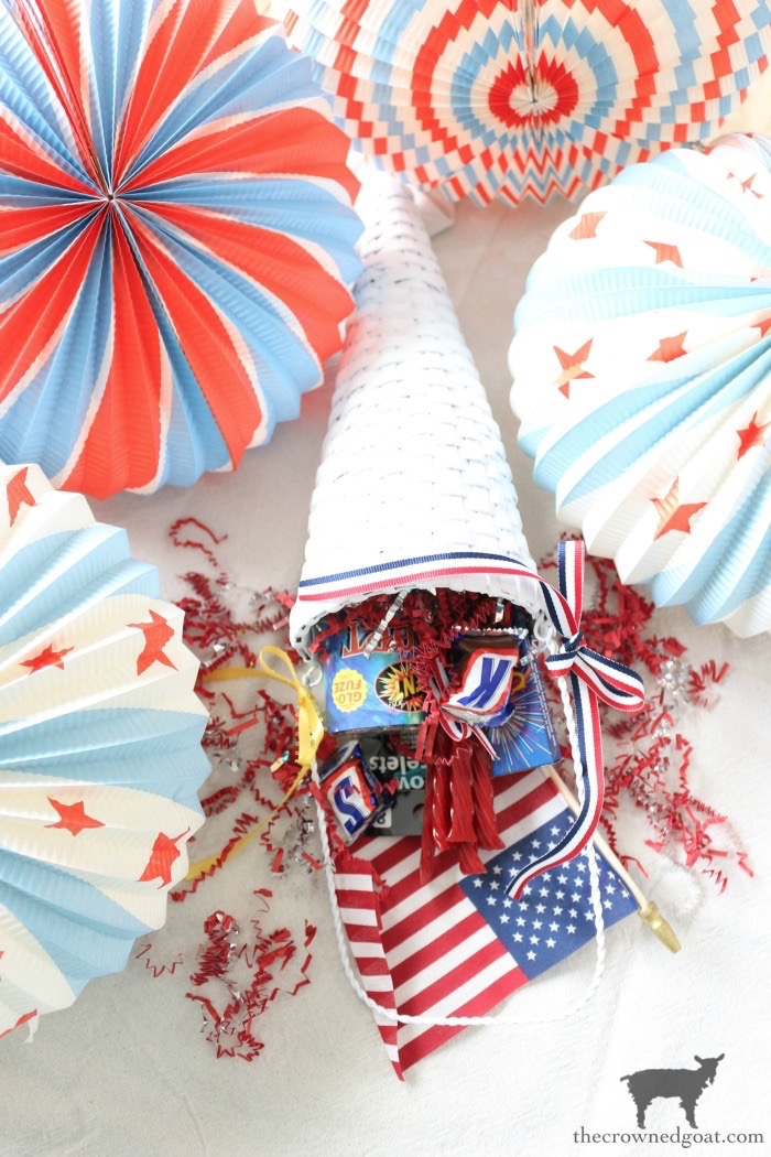 Patriotic-Party-Cones-The-Crowned-Goat-11 Quick & Easy Patriotic Party Cones Crafts Decorating Holidays Summer