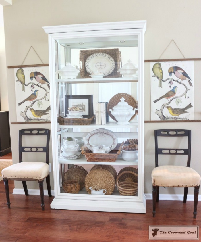 Turn-a-Display-Cabinet-Into-a-Bookcase-The-Crowned-Goat-2 How to Turn a Display Case into a Bookcase Decorating DIY