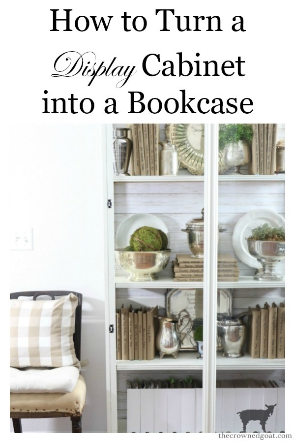 Turn-a-Display-Cabinet-into-a-Bookcase-The-Crowned-Goat-16a How to Turn a Display Case into a Bookcase Decorating DIY
