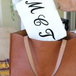 DIY Monogrammed Canvas Pouch