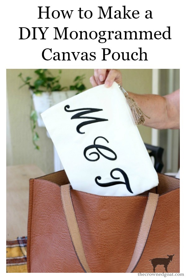 DIY-Monogrammed-Canvas-Pouch-The-Crowned-Goat-22 DIY Monogrammed Canvas Pouch Crafts DIY
