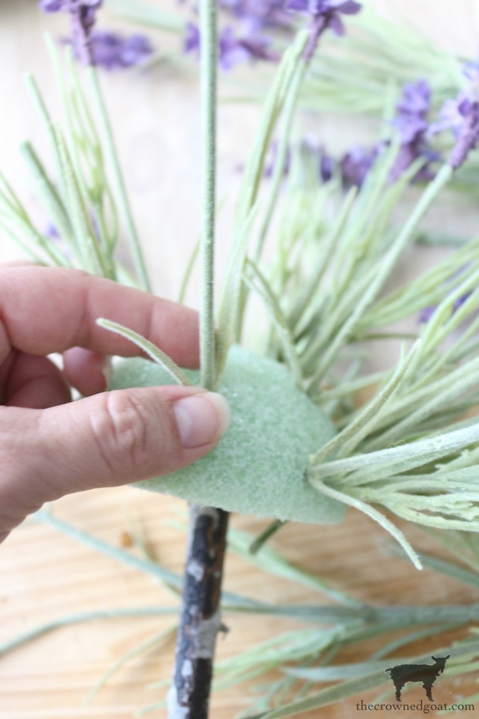 How-to-Make-a-Simple-Lavender-Topiary-The-Crowned-Goat-11 Simple Lavender Topiary and Summer Celebration Blog Hop Crafts Decorating DIY