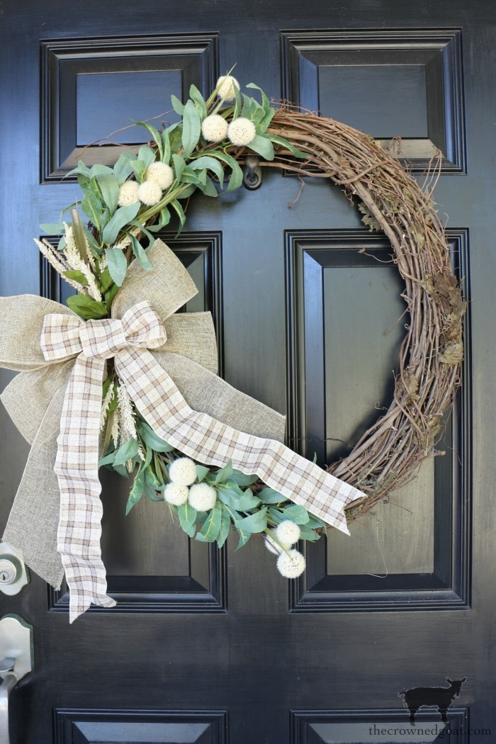 Fall-Grapevine-Wreath-The-Crowned-Goat-13-1 A Fall Grapevine Wreath for Beginners Crafts Decorating Fall Holidays