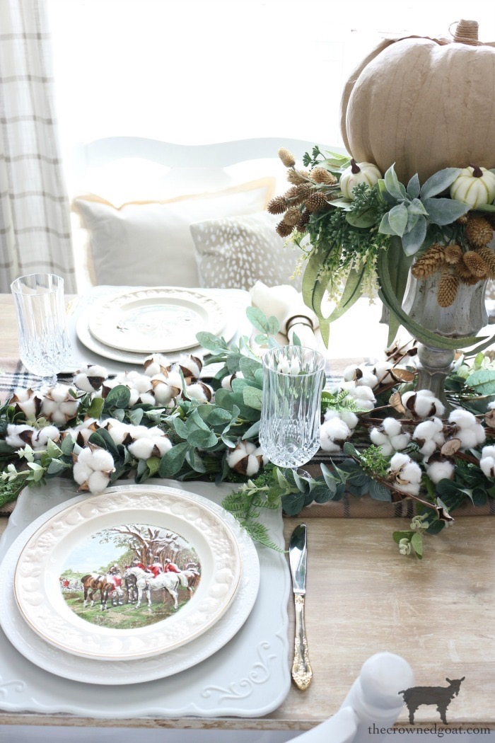 DIY-Greenery-Table-Runner-The-Crowned-Goat-21 DIY Fall Centerpiece Fall Holidays