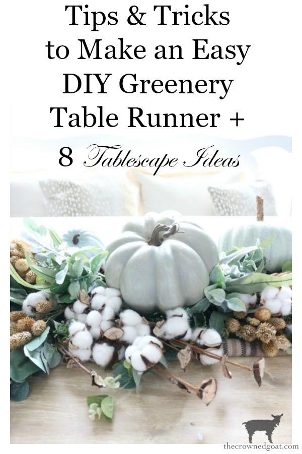 DIY-Greenery-Table-Runner-The-Crowned-Goat-25 DIY Greenery Table Runner Decorating DIY Fall Holidays