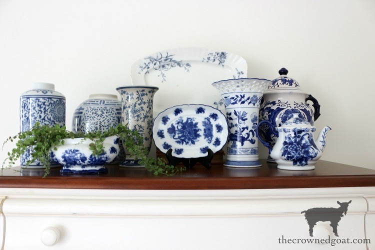 Blue-and-White-Collection-En-Masse-The-Crowned-Goat Blue and White Guest Bedroom Refresh Bliss Barracks Decorating DIY