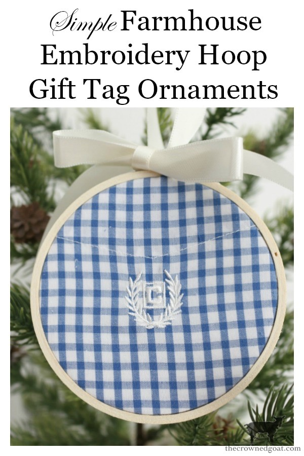Farmhouse-Embroidery-Hoop-Gift-Tag-Ornament-The-Crowned-Goat-24 Farmhouse Embroidery Hoop Gift Tag Ornaments Christmas Crafts Holidays