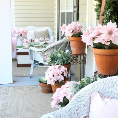 Soft & Romantic Farmhouse Christmas Porch