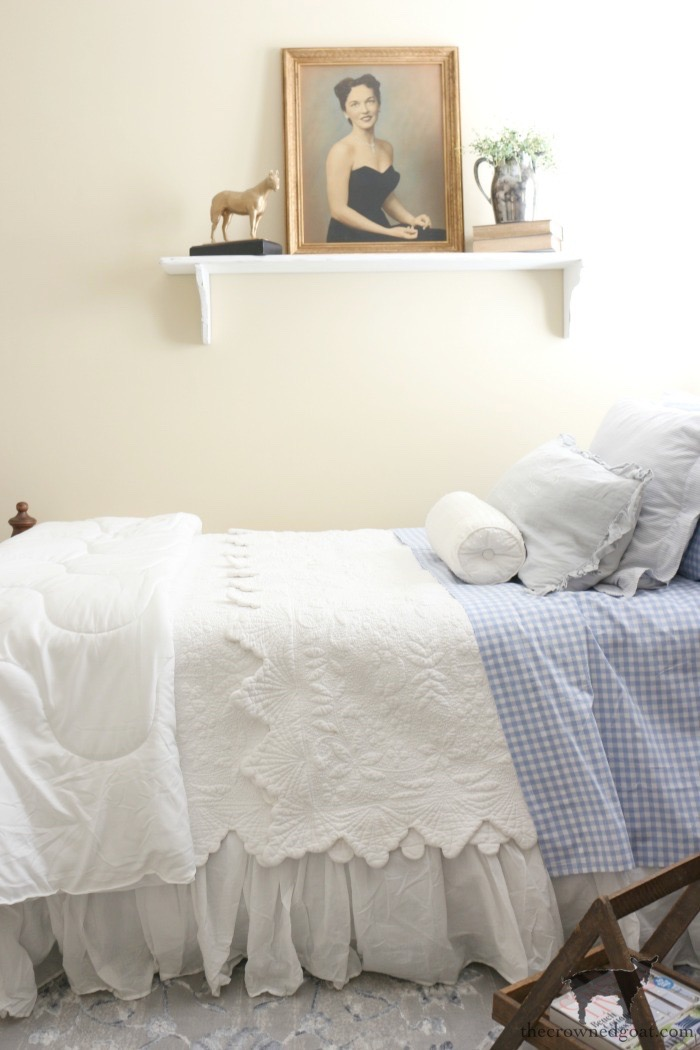 Blue-and-White-Twin-Bedroom-Refresh-The-Crowned-Goat-14 Blue and White Twin Bedroom Refresh Bliss Barracks Decorating