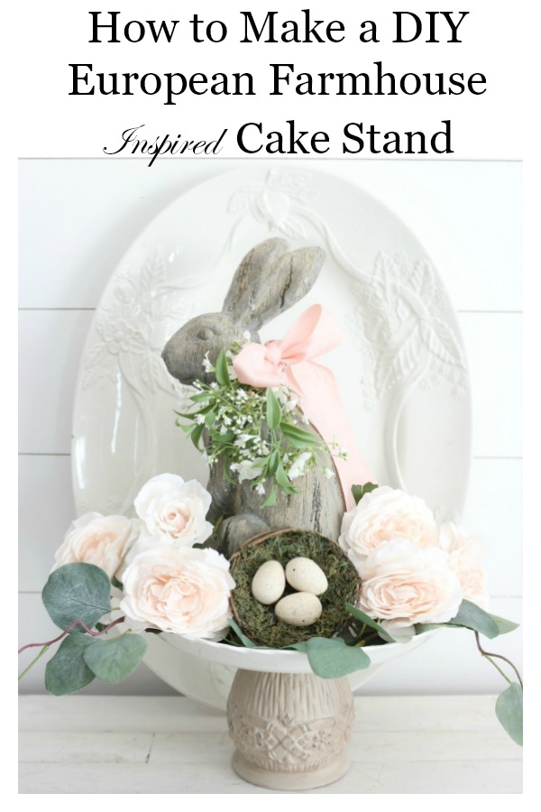 How-to-Make-a-DIY-European-Farmhouse-Style-Cake-Stand-The-Crowned-Goat-20 DIY European Farmhouse Cake Stand Crafts Decorating DIY Spring
