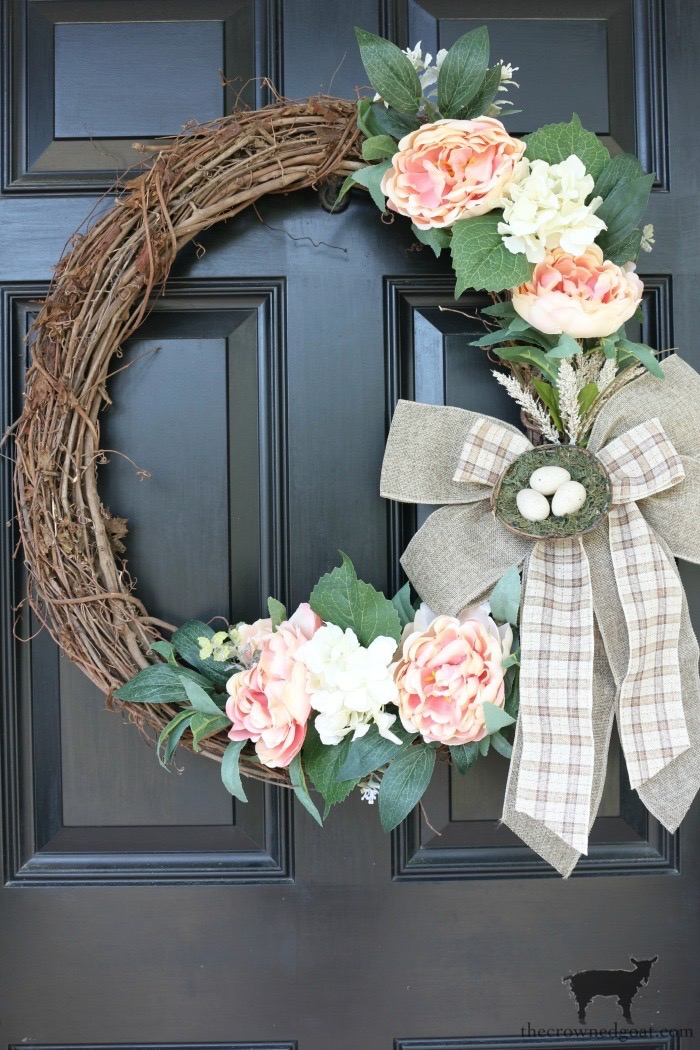 Simple-Spring-Grapevine-Wreath-The-Crowned-Goat-11 Simple Spring Home Tour Decorating Holidays Spring