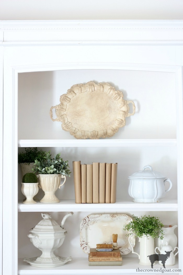 Easy-Tips-for-Styling-a-Bookcase-The-Crowned-Goat-11 Easy Tips for Styling a Bookcase Decorating DIY