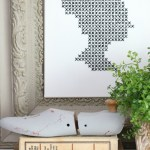 Silhouette Cross Stitch on Stretched Canvas