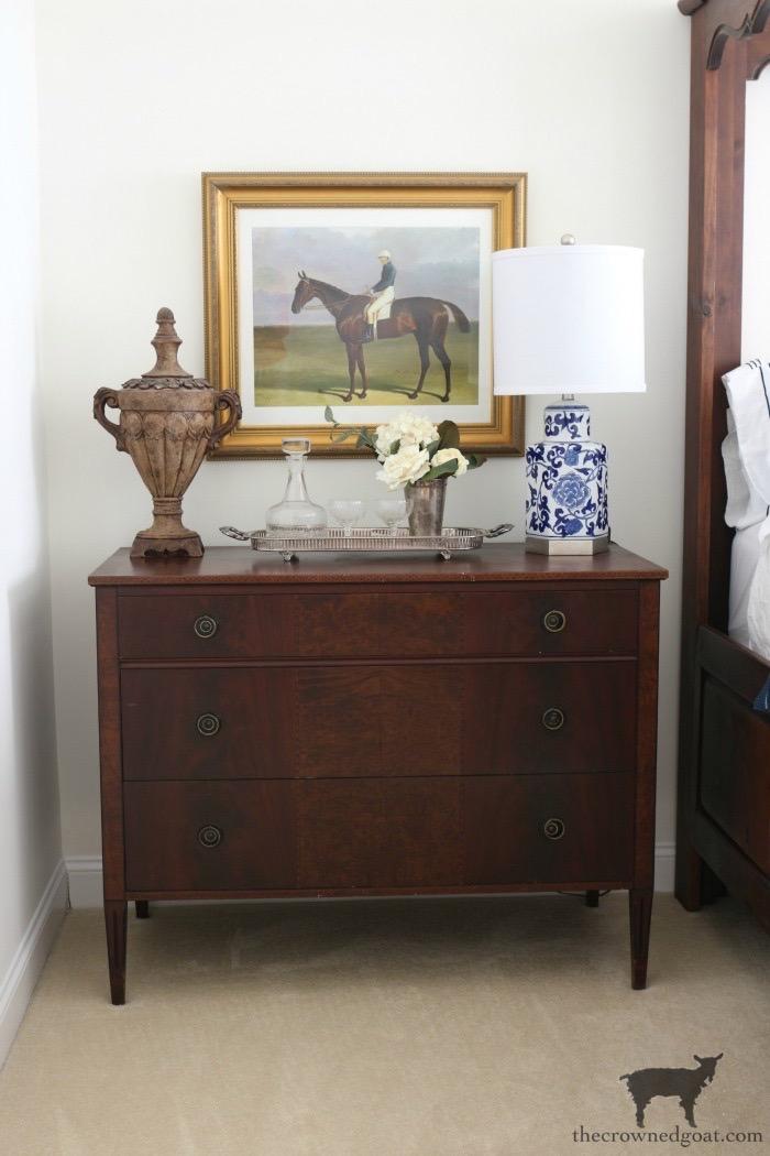 Blue-White-Master-Bedroom-Makeover-The-Crowned-Goat-18 Master Bedroom Refresh at Bliss Barracks Bliss Barracks Decorating