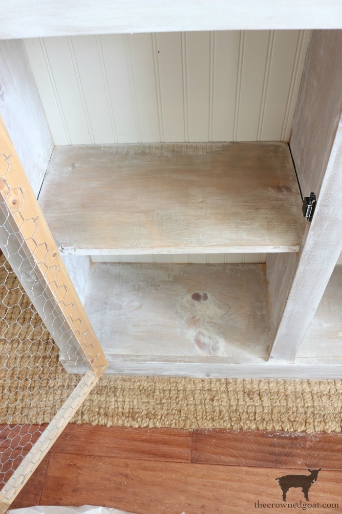 Adding-Whitewash-to-Farmhouse-Furniture-The-Crowned-Goat-10 Adding Whitewash to Farmhouse Furniture Decorating DIY Painted Furniture