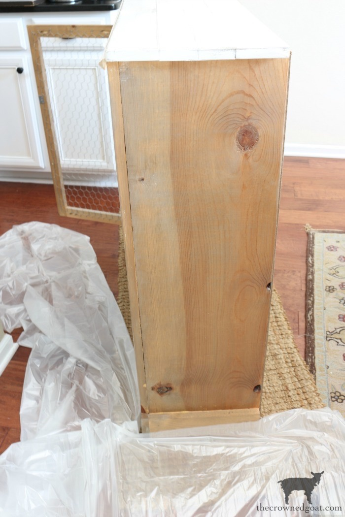 Adding-Whitewash-to-Farmhouse-Furniture-The-Crowned-Goat-2 Adding Whitewash to Farmhouse Furniture Decorating DIY Painted Furniture