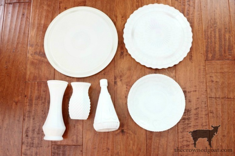 DIY-Faux-Milk-Glass-Cake-Stand-The-Crowned-Goat-10 How to Make a Faux Milk Glass Cake Stand Crafts DIY Fall Holidays