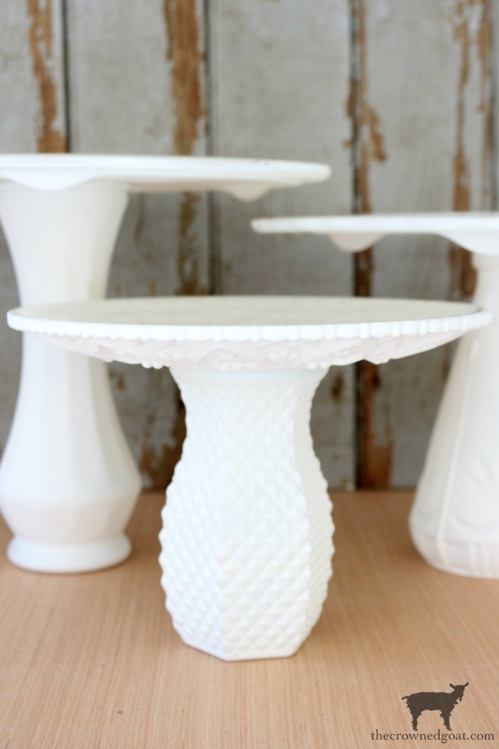 DIY-Faux-Milk-Glass-Cake-Stand-The-Crowned-Goat-16 How to Make a Faux Milk Glass Cake Stand Crafts DIY Fall Holidays
