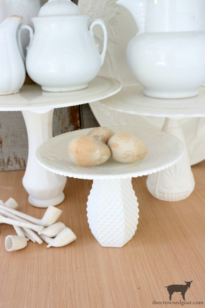 DIY-Faux-Milk-Glass-Cake-Stand-The-Crowned-Goat-17 How to Make a Faux Milk Glass Cake Stand Crafts DIY Fall Holidays