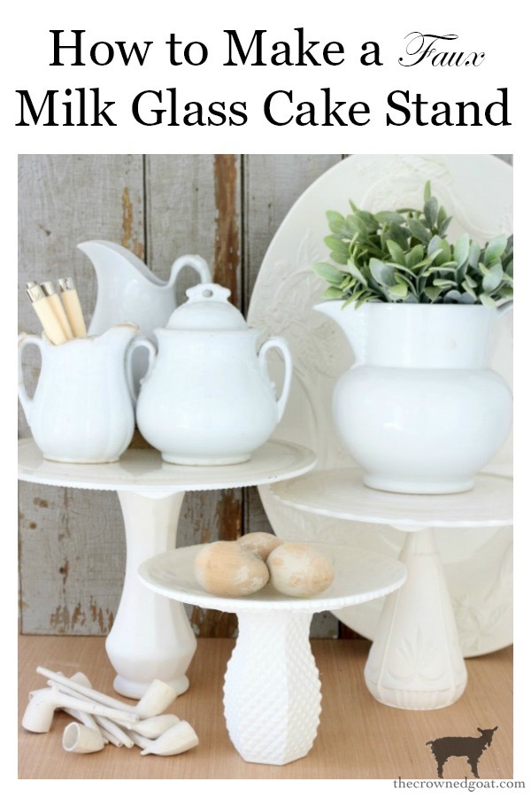 DIY-Faux-Milk-Glass-Cake-Stand-The-Crowned-Goat-20 How to Make a Faux Milk Glass Cake Stand Crafts DIY Fall Holidays