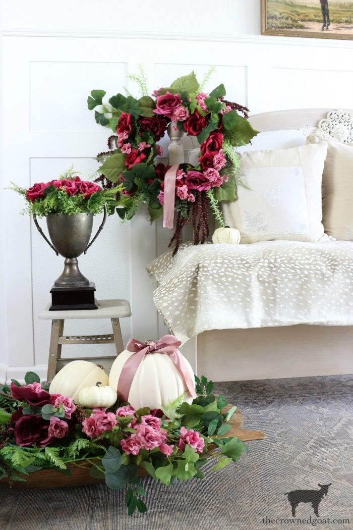 Fall-Decorating-an-Entry-The-Crowned-Goat-4 Elegant Fall Home Tour Fall Holidays