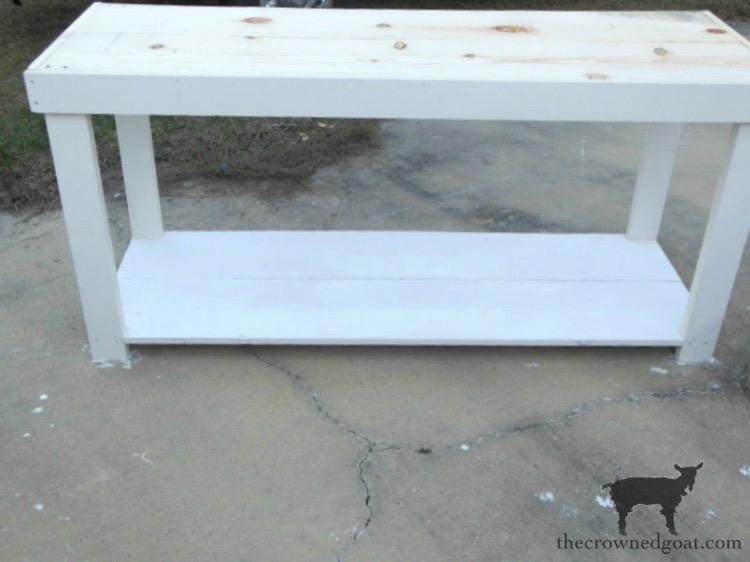 Painted-Hutch-And-Console-Table-Base-The-Crowned-Goat-2 DIY Console Table Base DIY One_Room_Challenge The Crowned Goat Cottage