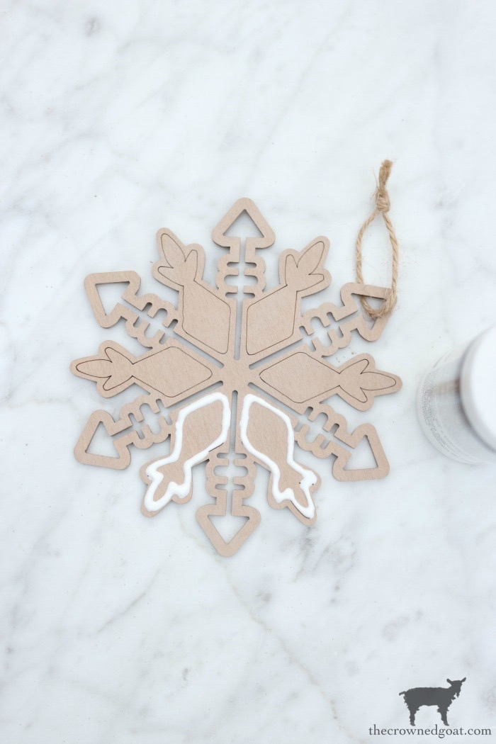 DIY-Gingerbread-Snowflake-Ornaments-The-Crowned-Goat-7 DIY Gingerbread Snowflake Ornaments Christmas Crafts Holidays