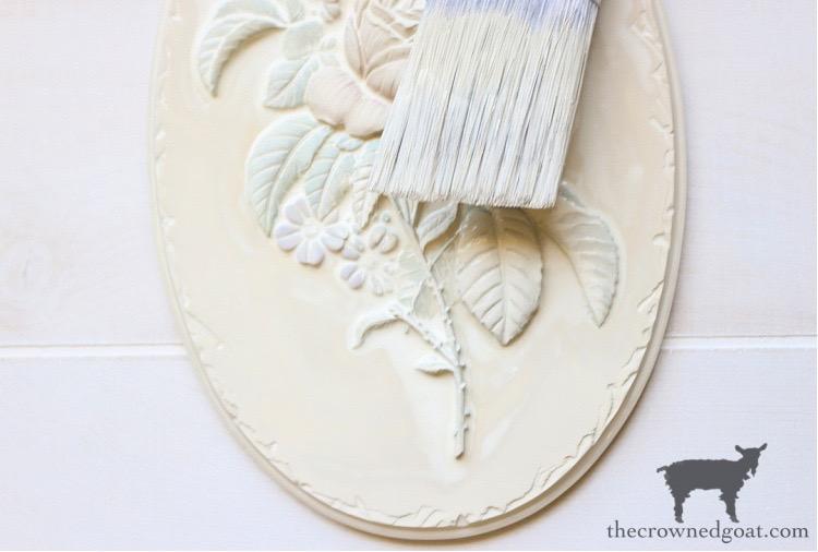 DIY-Plaster-Flower-Plaque-The-Crowned-Goat-6 DIY Plaster Flower Plaque Crafts Decorating DIY