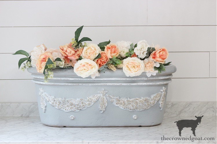 French-Country-Painted-Planter-The-Crowned-Goat-19 French Country Painted Planter Crafts Decorating DIY Painted Furniture