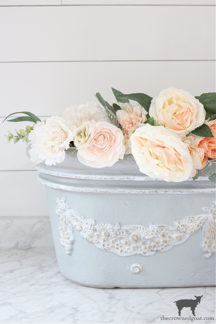 French-Country-Painted-Planter-The-Crowned-Goat-22 French Country Painted Planter Crafts Decorating DIY Painted Furniture