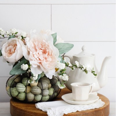 Egg Basket Flower Arrangement