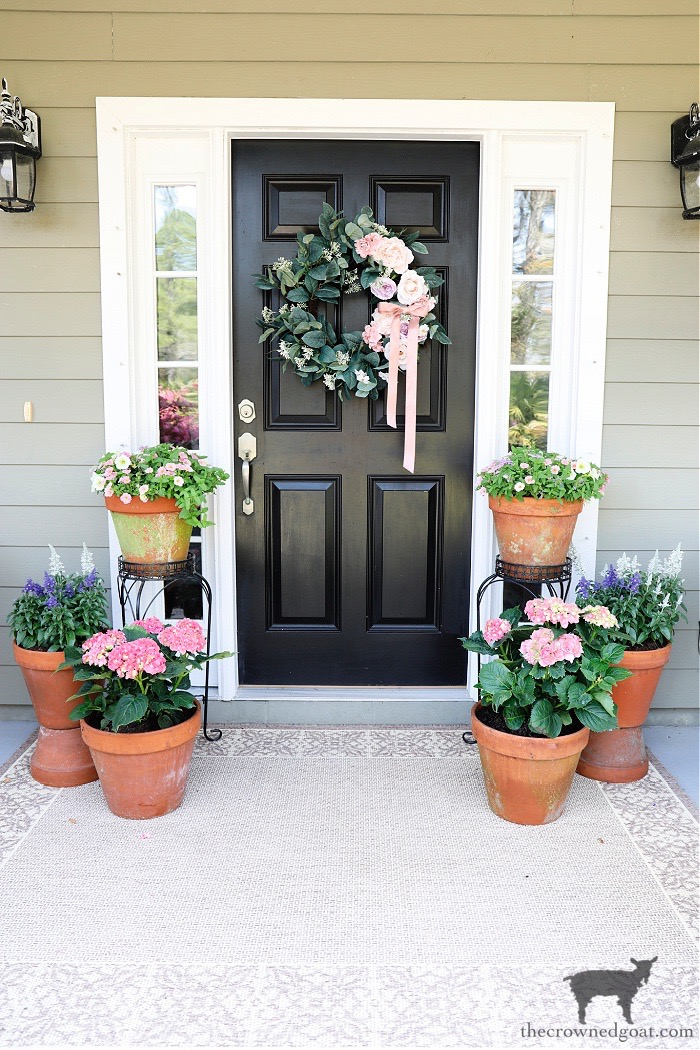 Spring-Container-Gardens-and-Porch-Tour-The-Crowned-Goat Spring Flowers Porch Tour Holidays Spring