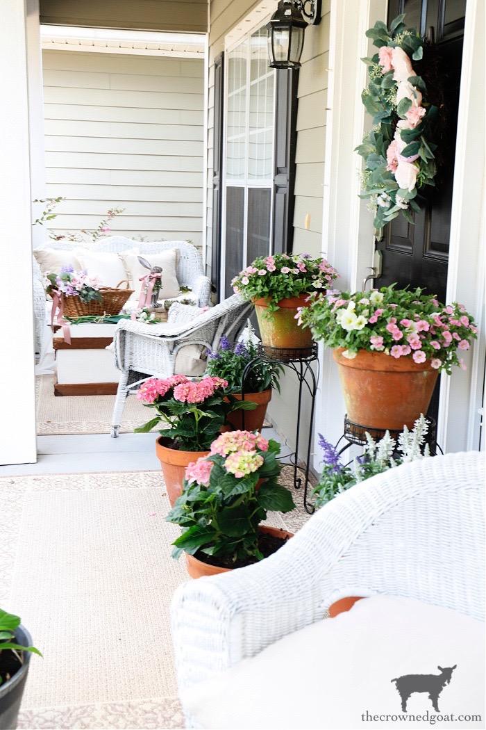 Spring-Flowers-Spring-Porch-Tour-The-Crowned-Goat Make at Home Lavender Gardener's Hand Scrub Crafts DIY Spring Summer