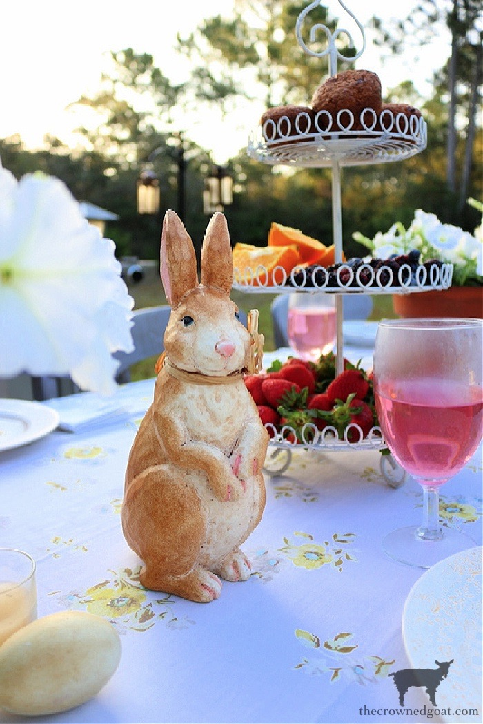 Vintage-Bunny-Spring-Tablescape-The-Crowned-Goat From the Front Porch From the Front Porch