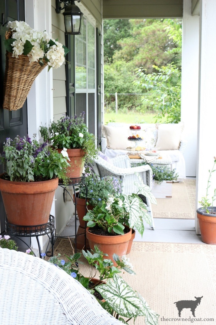 Summer-Porch-Tour-The-Crowned-Goat-1 Spring Into Summer Entry Ideas Decorating Holidays Summer