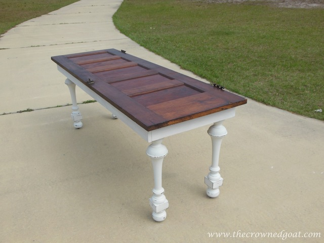 Building a Console Table From an Old Door