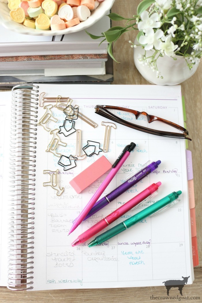 10 Tips for a More Organized Life - Custom Planner - The Crowned Goat