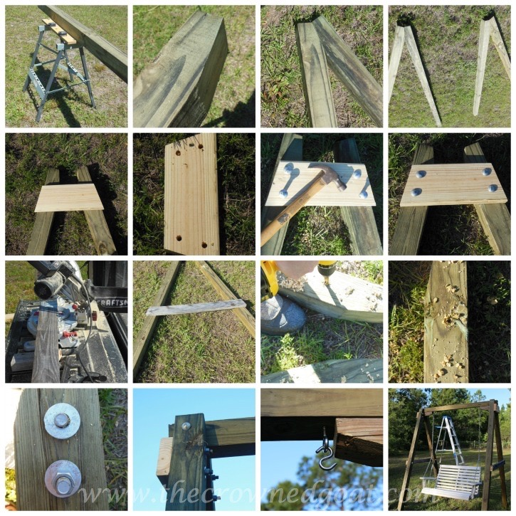 Building a Porch Swing Frame - The Crowned Goat 052015-1