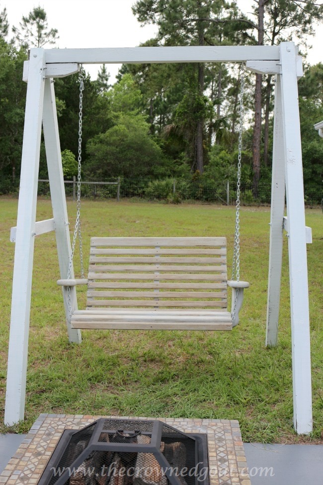 Building a Porch Swing Frame - The Crowned Goat 052015-2