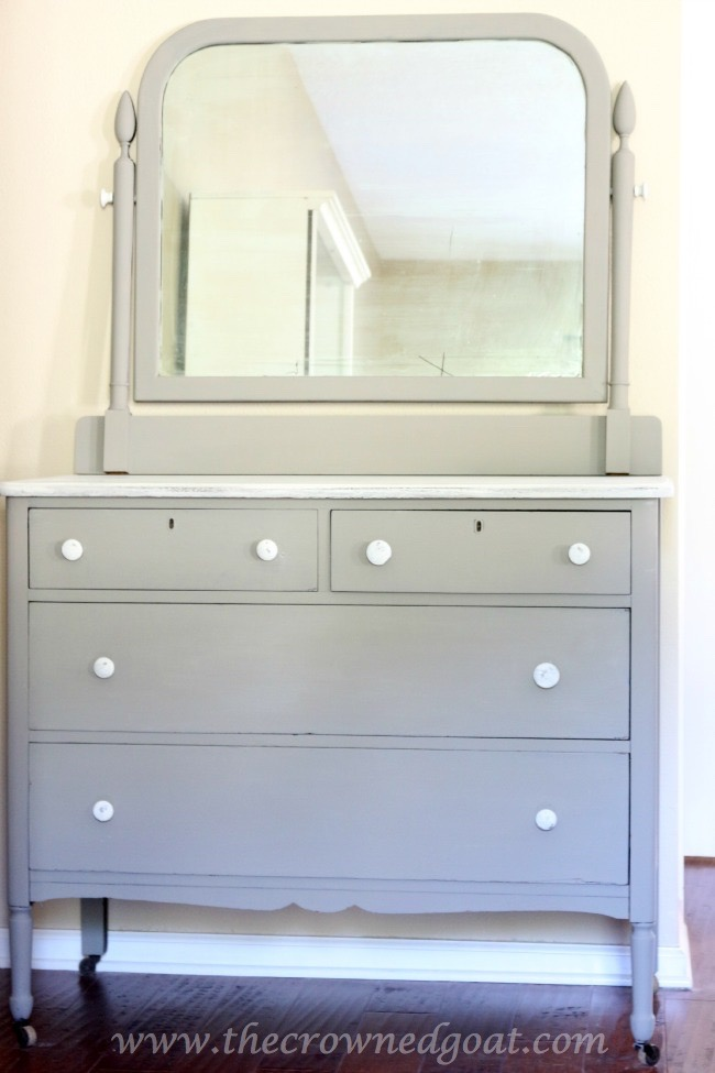 Annie Sloan Chalk Paint - French Linen Painted Dresser - The Crowned Goat - 072215-7
