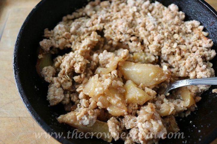 Salted Caramel Apple Skillet