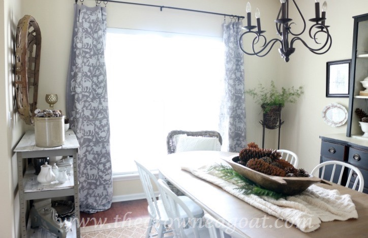 How to Customize Drop Cloth Curtains with Paint & Stencils