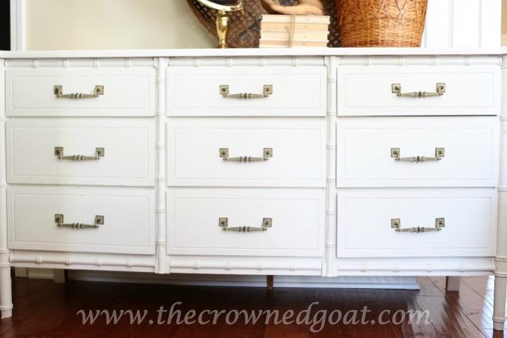 021616-6 - Annie Sloan Chalk Painted Dresser in Pure White