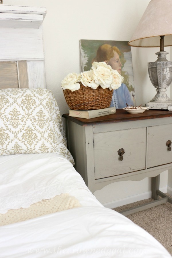 French Linen Painted Nightstand