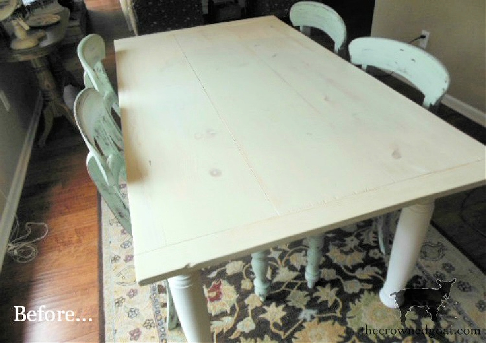 Breakfast Nook Makeover Before-The Crowned Goat