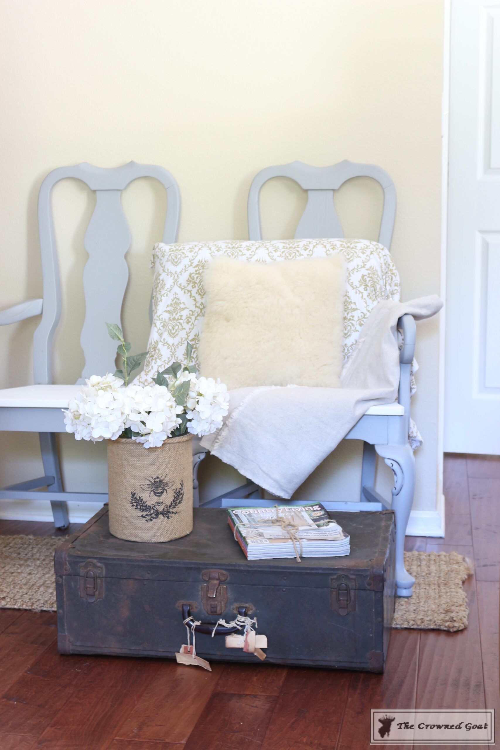 Creating a Bench from Dining Chairs